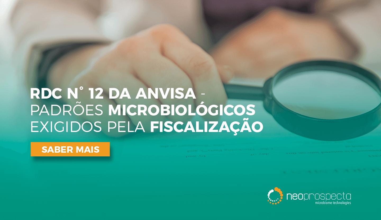 RDC 12 da ANVISA – Padrões microbiológicos exigidos pela fiscalização