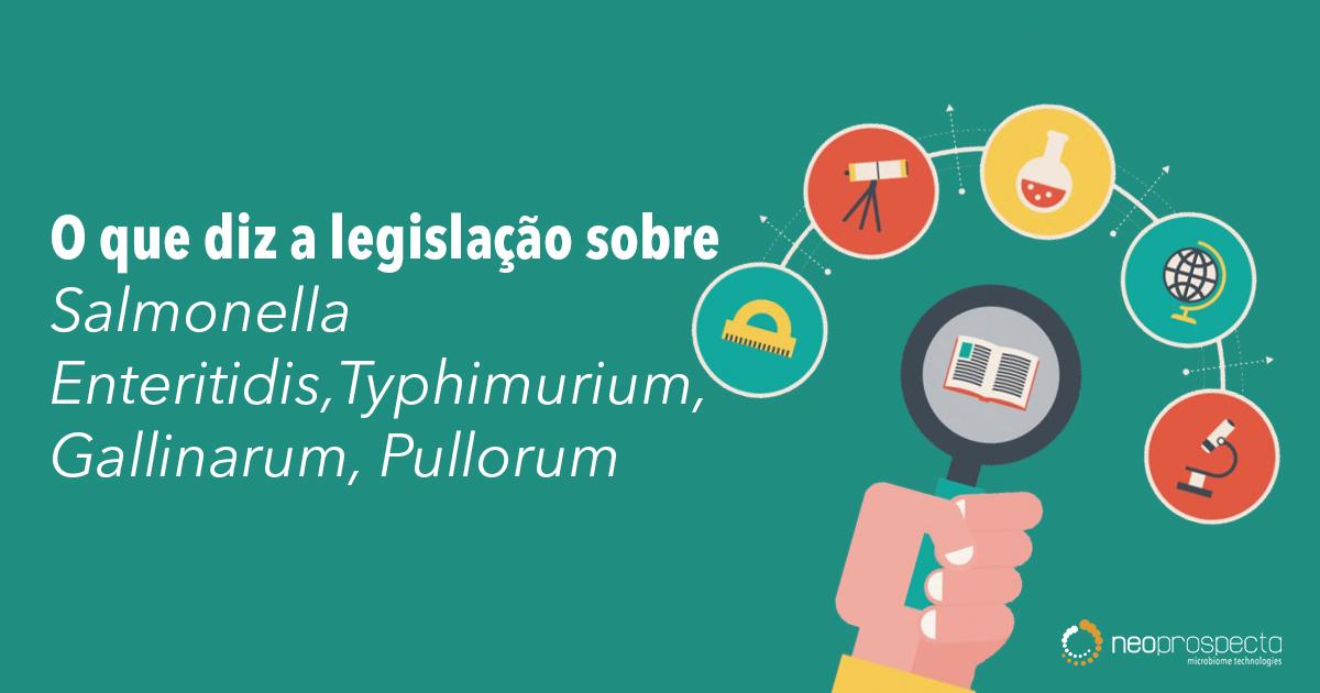 O que diz a legislação sobre sorovariedade de Salmonella Enteritidis,Typhimurium, Gallinarum, Pullorum